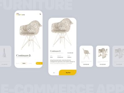 UIX Furniture app concept