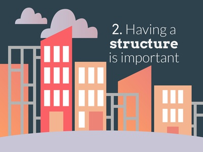 Having a structure is important buildings mentoring vector illustration