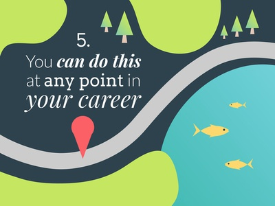 You can do this at any point in your career map mentoring vector illustration