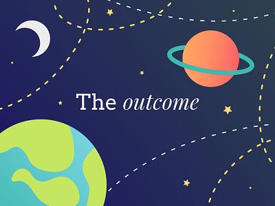 The Outcome space mentoring vector illustration