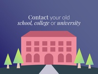 Contact your old college or university