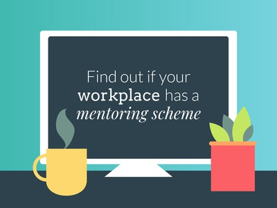 Workplace mentoring scheme workplace office mentoring vector illustration
