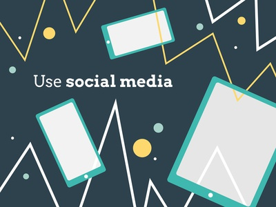 Use social media social vector mentoring illustration