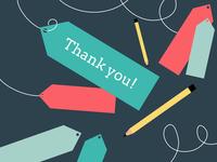 Thank you thank you vector mentoring illustration