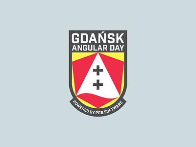 Gdańsk Angular Day Logo dribbble software it angular poland gdansk event branding design brand branding logos logo black yellow white red