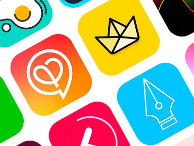 Ios App Icon interaction design logo illustration ui colourful ui  ux design ios icon app icon