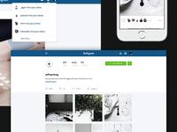 Instagram Web Redesign Concept