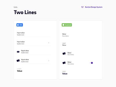 Kontist Mobile App Design System Documentation mobile app ios android design system