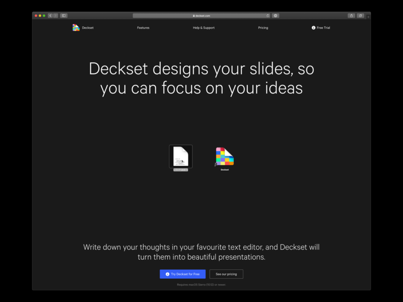 Deckset Website