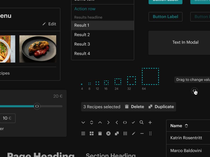 Dark UI Components dark mode design system