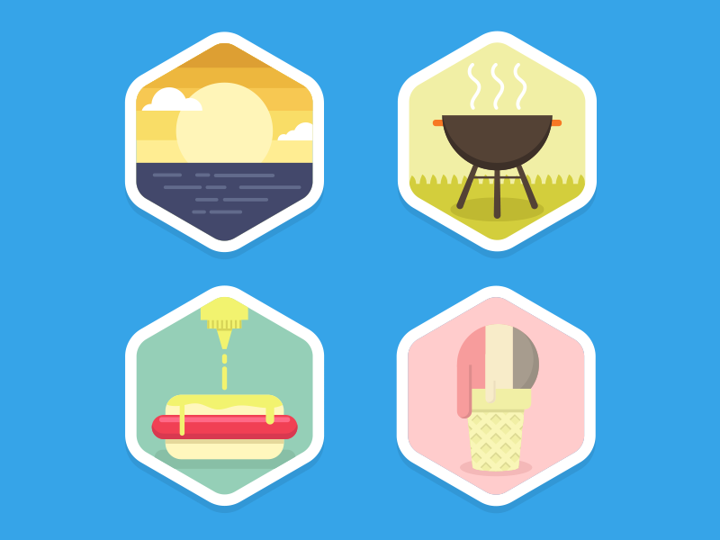 summer badge sample by travis gregory dribbble dribbble