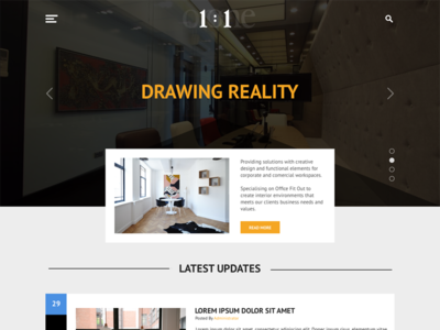 Interior Design Company Blog Design clean simple web design blog design