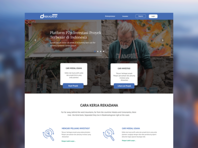 Rekadana design ux ui rekadana crowdfunding web design