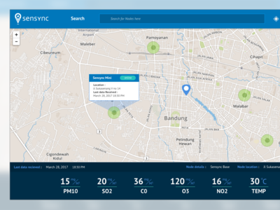 Sensync  website web app air pollution detector ui ux