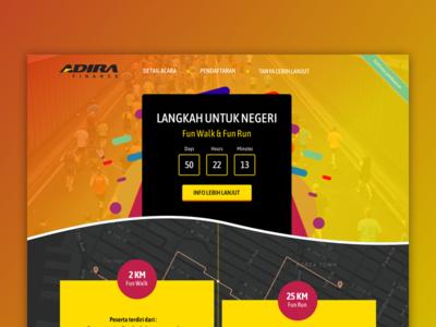 Adira Fun Run registration page landing page web design