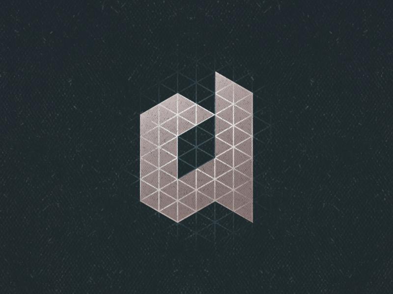 A vector brand design lettermark isometry grunge a aletteraday 30daychallenge brand algeria dz design logo