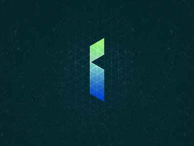 I1 green blue isometric letter lettering i typogaphy 36daysoftype aletteraday 30daychallenge dz design logo