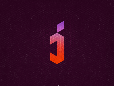 J1 monogram lettermark lettering isometric typogaphy j 36daysoftype aletteraday 30daychallenge dz design logo