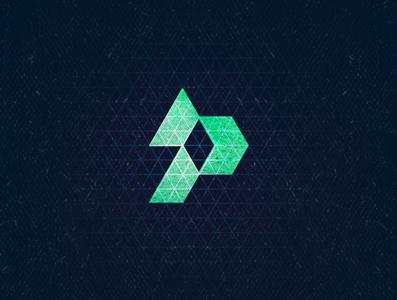 P3 monogram blue typogaphy isometric aletteraday 36daysoftype 30daychallenge algeria design logo