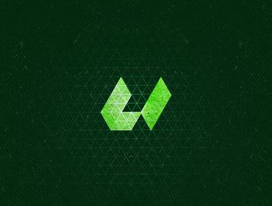 U1 u ulogo green aletteraday dz monogram isometric typogaphy 36daysoftype 30daychallenge design logo