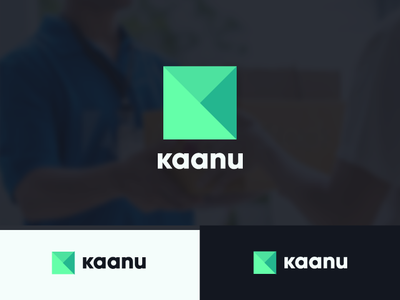 Kaanu3 design yanfo dz green arrow klogo k box tech logo delivery