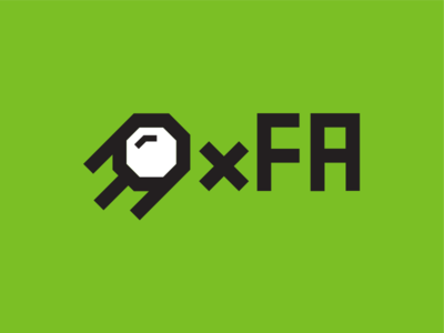 Logo 0xFA simple green logodesign sputnik logo