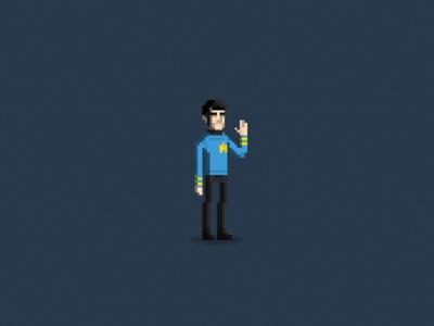 Live Long And Prosper pixel art pixels leonard nimoy star trek rip