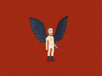(The Unexpected Virtue of Ignorance) birdman michael keaton academy awards movie of the year riggan thompson pixel art pixels wings illustration
