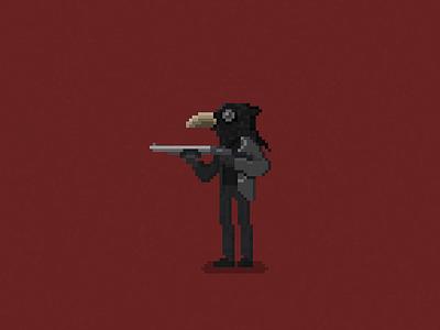 The Raven shotgun pixel pixels pixel art hbo true detective raven