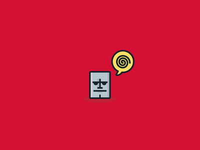 Angry Bot icon pissed bot robot illustration vector