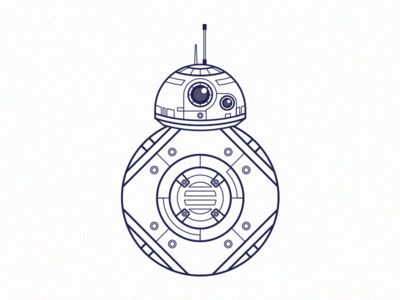 BB8 WIP illustration vector bb8 droid star wars