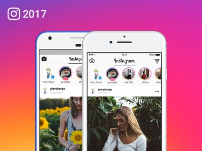 Instagram 2017 UI for Sketch sketch social network android ios ui freebie instagram