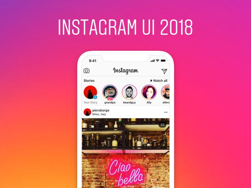 Instagram ui 2018