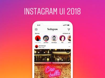 Instagram UI 2018 - Figma + Sketch freebie social network ui instagram free download freebie sketch