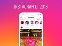 Instagram UI 2018 - Figma + Sketch freebie