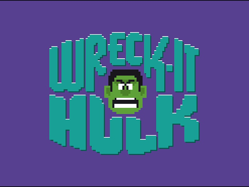 Wreck It Hulk wreck it ralph hulk avengers marvel disney arcade comics bruce banner mash-up pixel pixel art