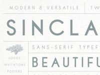 Sinclaire | A Classic Sans-Serif Typeface