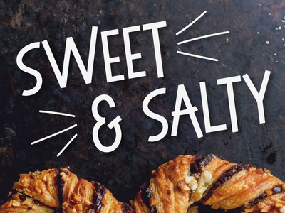 Sweet and Salty Bouncy Sans Serif