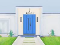 Palm Springs tour doors (Blue)