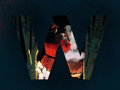 W for witch letter letterforms w witch 36days-w 36daysoftype digitalillustration illustrationoftheday art creative artwork illustration type typography
