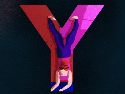 Y for yoga yoga digitalart digitalillustration 36days -y 36daysoftype graphicdesign design type typography creative artwork illustration art
