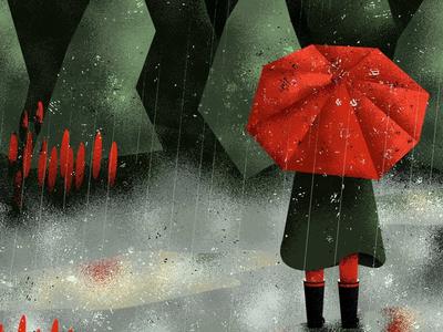 Can't rain all the time texture photoshop vector drawings design character design landscape rain creative artwork art illustration