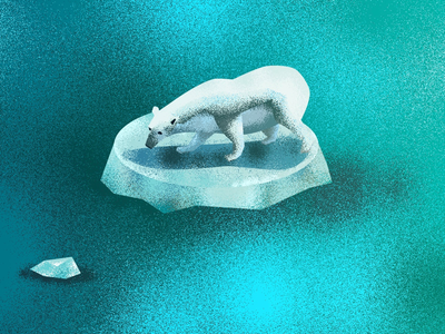 The last polar bear animals polar bear digitalart digitalillustration digital landscapes creative artwork illustration awareness climates
