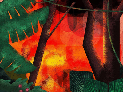 All is Fire 🔥 digitalart texture bushfires fires digitalillustration digital vector creative design artwork illustration climate change