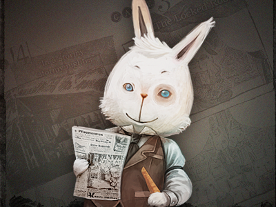 Edmund rabbit game character illustration
