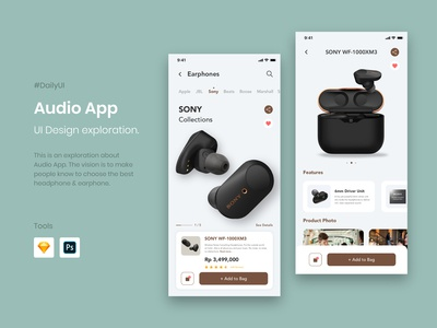 Audio App UI Design Exploration