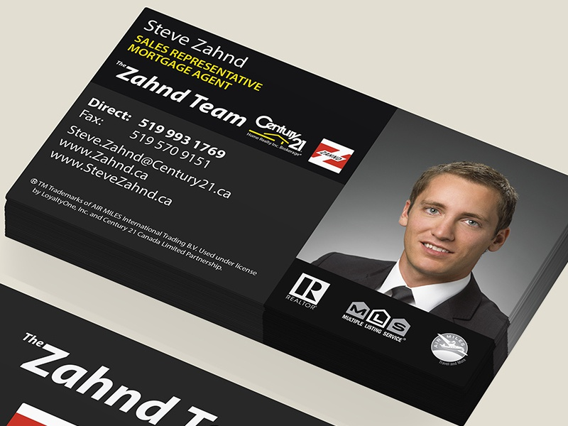 Clean Real Estate Business Cards by Matthew Jones - Dribbble