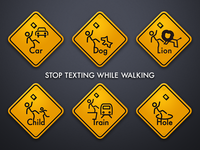STOP TEXTING WHILE WALKING