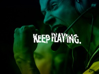 Keep Playing typography