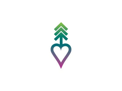 I Love National Parks logo tattoo gradient heart tree
